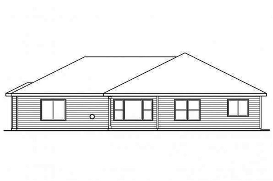 Home Plan Rear Elevation of this 3-Bedroom,2066 Sq Ft Plan -108-1718