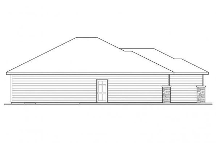 Home Plan Left Elevation of this 3-Bedroom,2066 Sq Ft Plan -108-1718