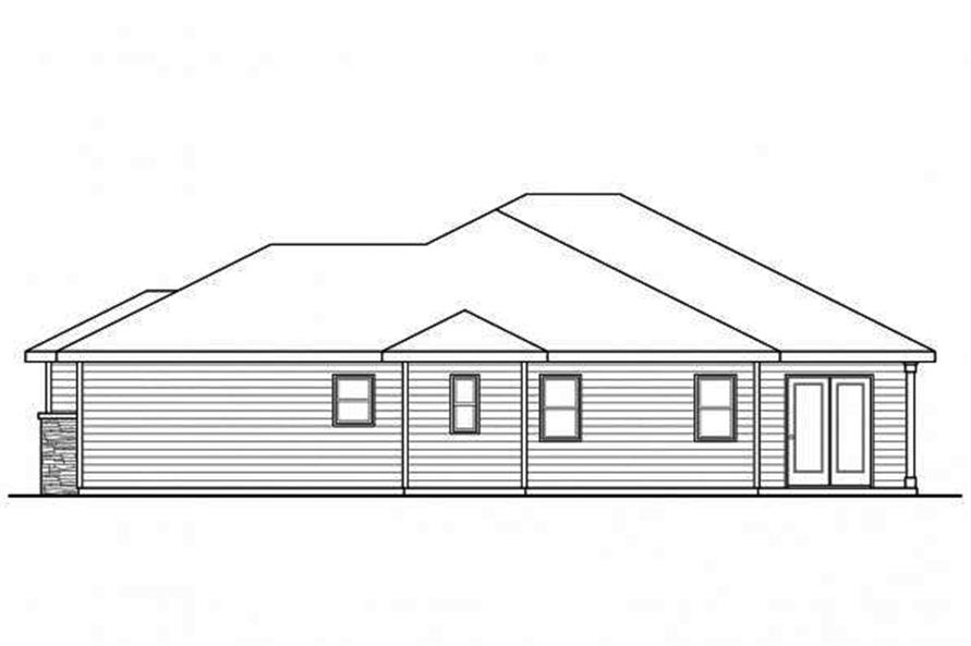 Home Plan Right Elevation of this 3-Bedroom,2066 Sq Ft Plan -108-1718