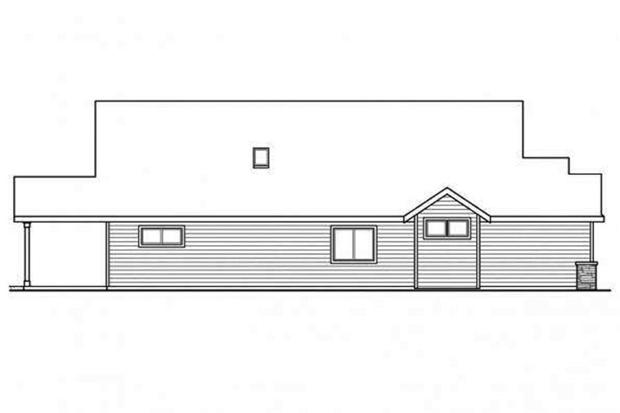 108-1719: Home Plan Left Elevation