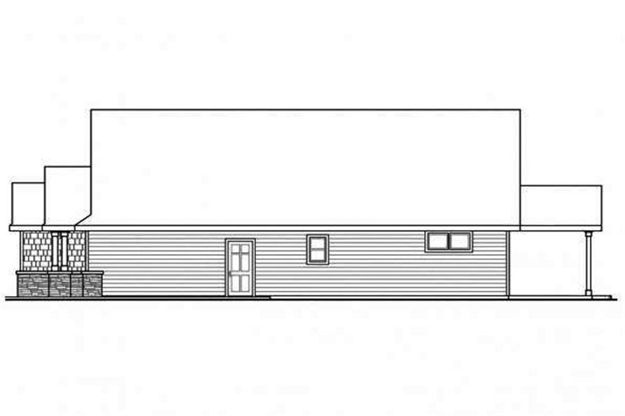 108-1719: Home Plan Right Elevation