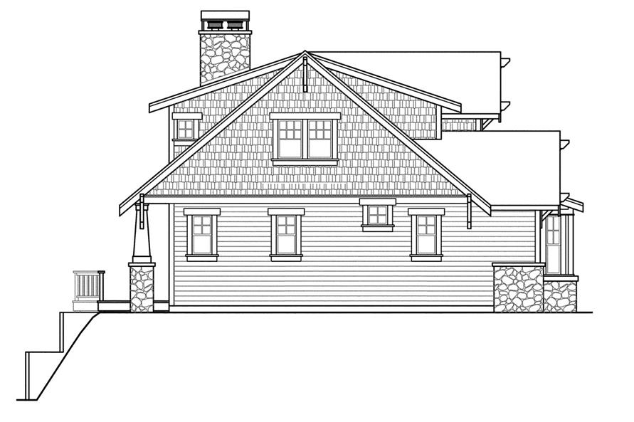 108-1721: Home Plan Left Elevation