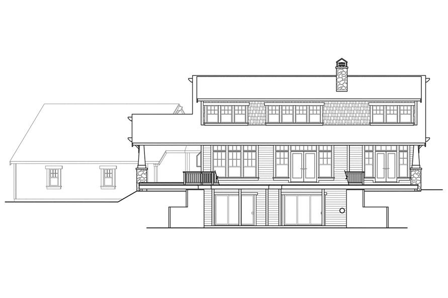 108-1720: Home Plan Rear Elevation