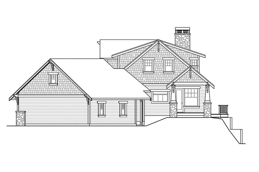 108-1720: Home Plan Right Elevation