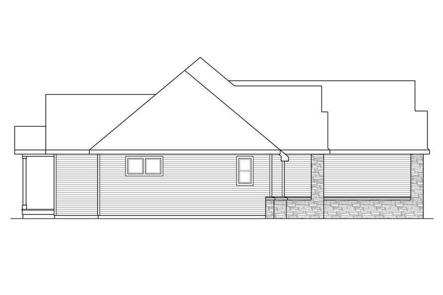 Home Plan Left Elevation of this 3-Bedroom,2283 Sq Ft Plan -108-1722