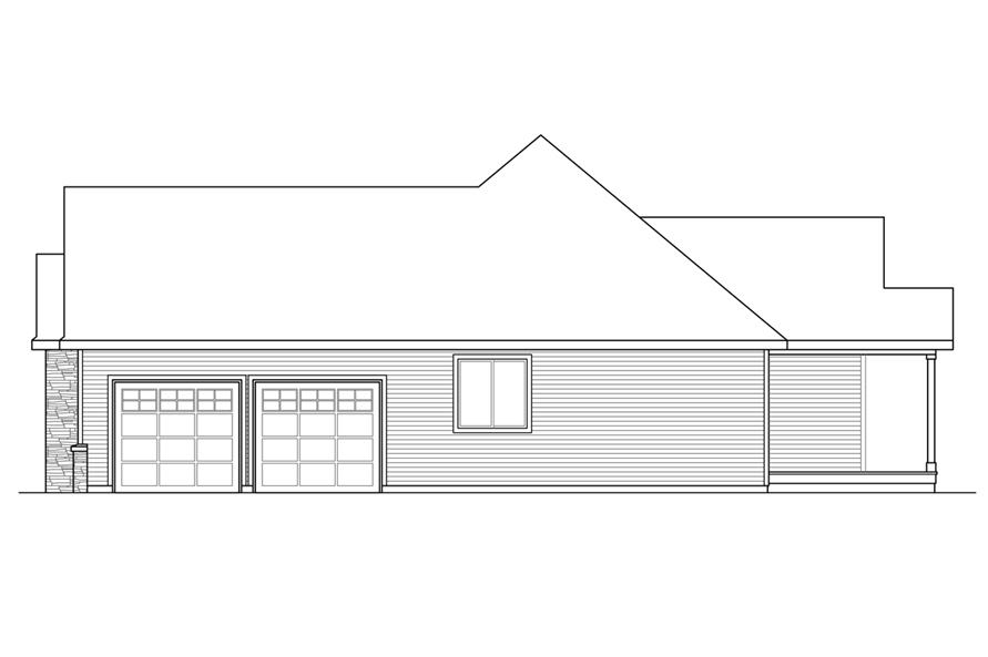 Home Plan Right Elevation of this 3-Bedroom,2283 Sq Ft Plan -108-1722
