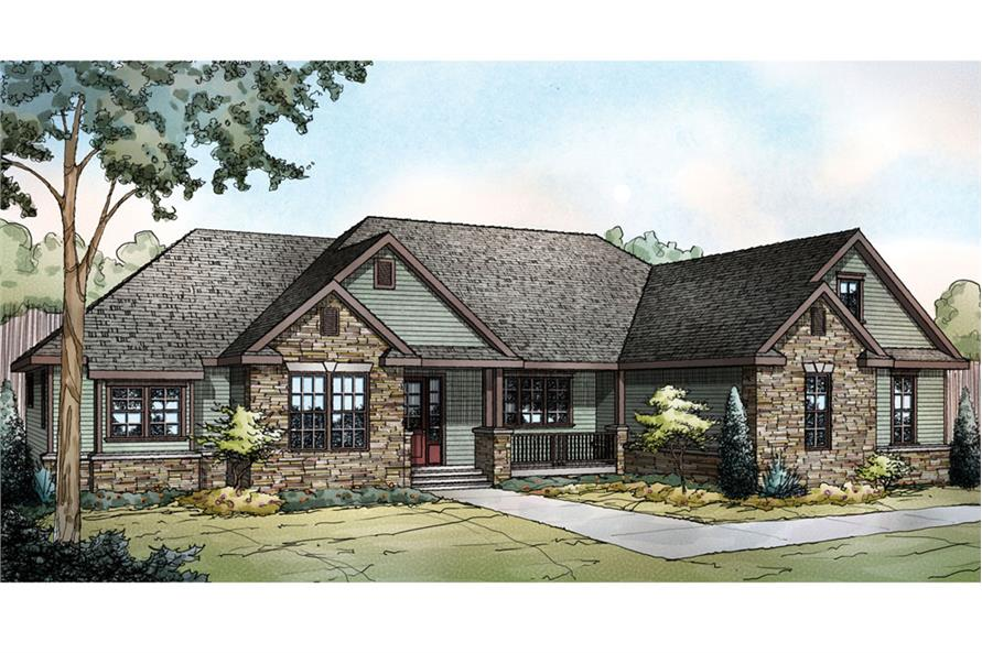 3-Bedroom, 2283 Sq Ft Ranch House Plan - 108-1722 - Front Exterior