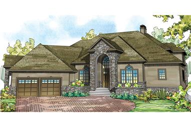 4-Bedroom, 5471 Sq Ft Tudor Home Plan - 108-1739 - Main Exterior