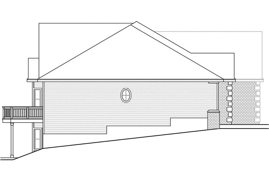 108-1740: Home Plan Left Elevation