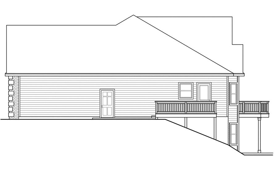 108-1740: Home Plan Right Elevation