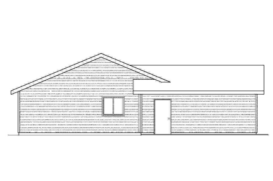Home Plan Left Elevation of this 3-Bedroom,1244 Sq Ft Plan -108-1741