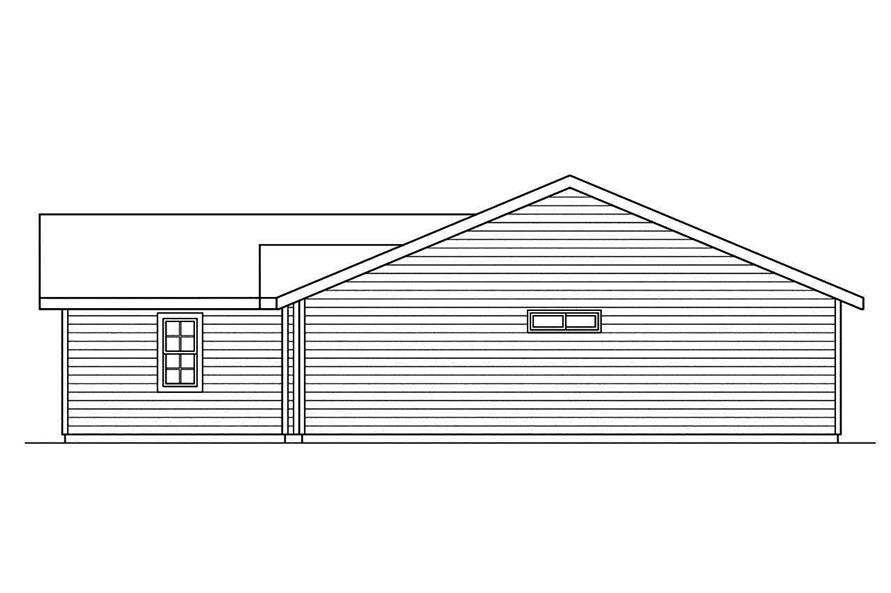 Home Plan Right Elevation of this 3-Bedroom,1244 Sq Ft Plan -108-1741