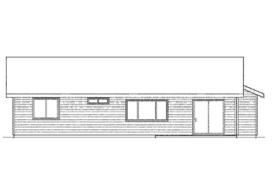 Home Plan Rear Elevation of this 3-Bedroom,1244 Sq Ft Plan -108-1741