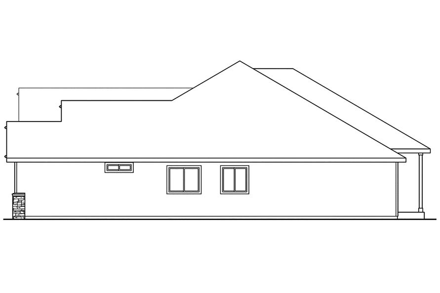 108-1743: Home Plan Right Elevation