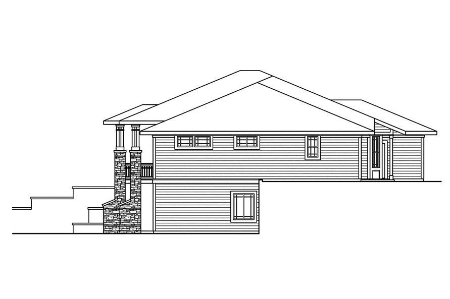 108-1744: Home Plan Right Elevation
