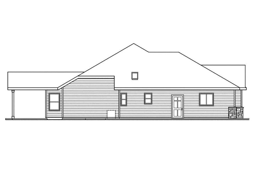 108-1745: Home Plan Left Elevation