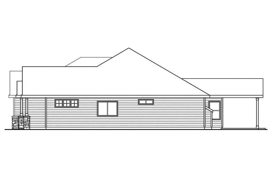 108-1745: Home Plan Right Elevation