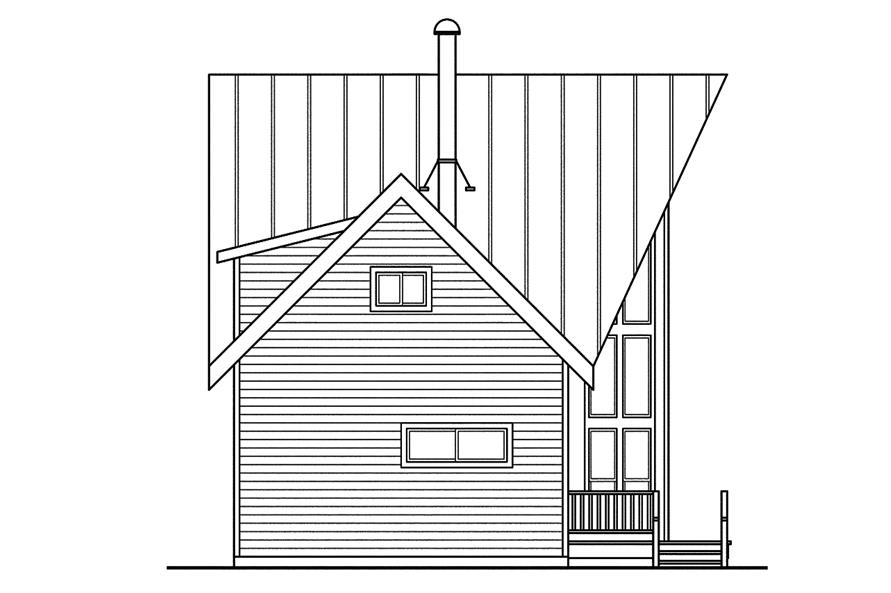108-1746: Home Plan Left Elevation