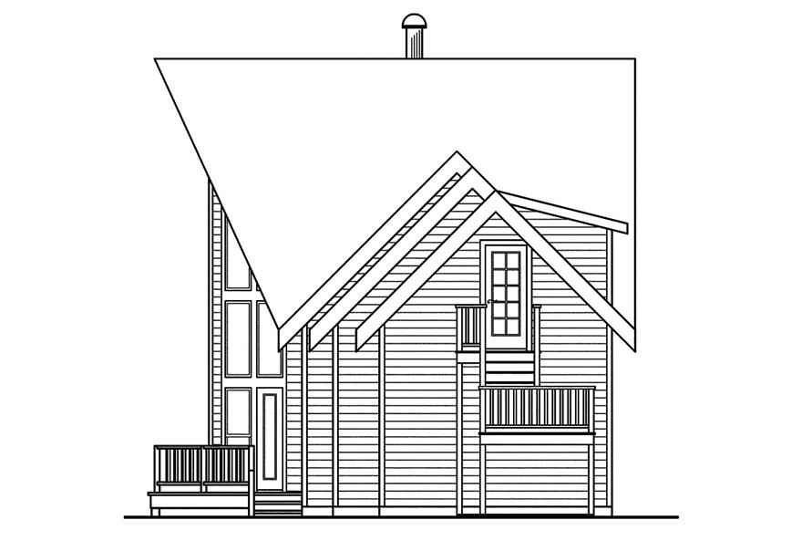 108-1746: Home Plan Right Elevation