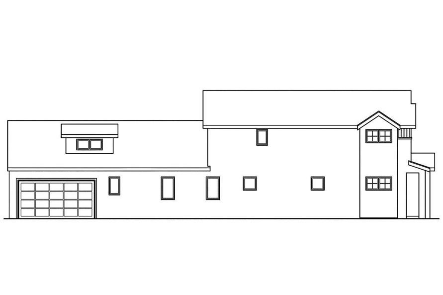 Home Plan Left Elevation of this 3-Bedroom,2559 Sq Ft Plan -108-1747