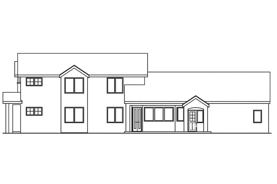 Home Plan Right Elevation of this 3-Bedroom,2559 Sq Ft Plan -108-1747