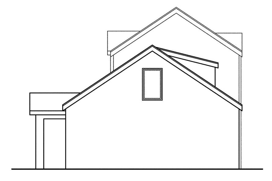 108-1747: Home Plan Rear Elevation