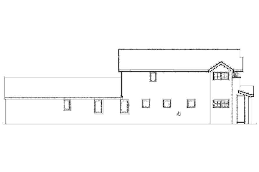 Home Plan Left Elevation of this 3-Bedroom,2062 Sq Ft Plan -108-1748