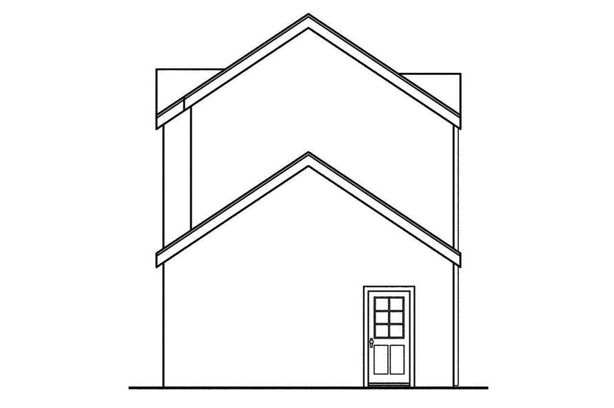 108-1748: Home Plan Rear Elevation