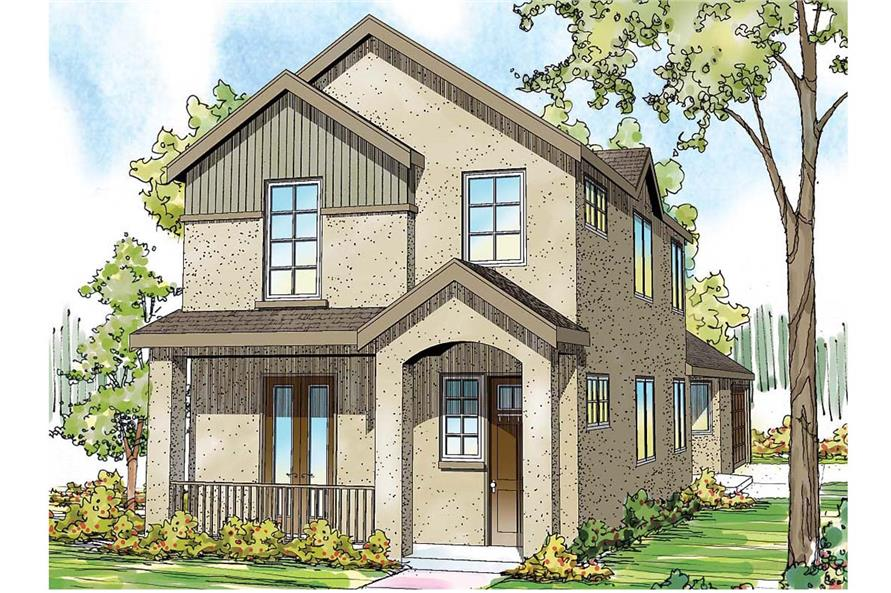 Front Door of this 3-Bedroom,2062 Sq Ft Plan -2062