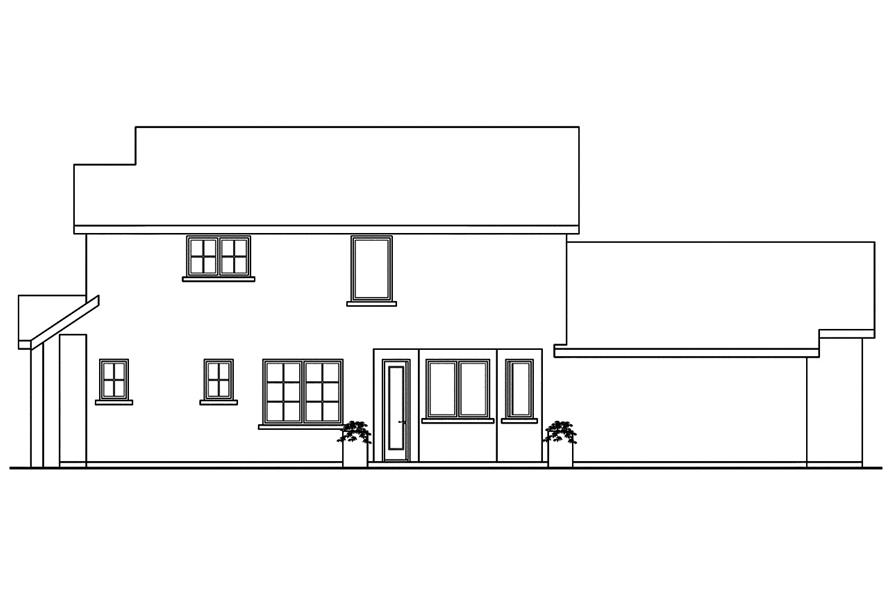 Home Plan Right Elevation of this 3-Bedroom,1710 Sq Ft Plan -108-1749