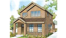 Front elevation of Contemporary home (ThePlanCollection: House Plan #108-1749)