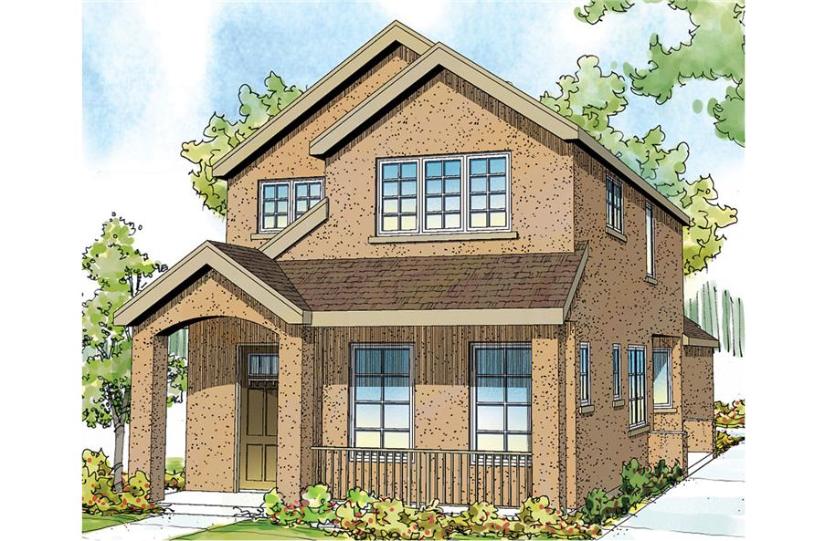 3-Bedroom, 1710 Sq Ft Contemporary Home Plan - 108-1749 - Main Exterior