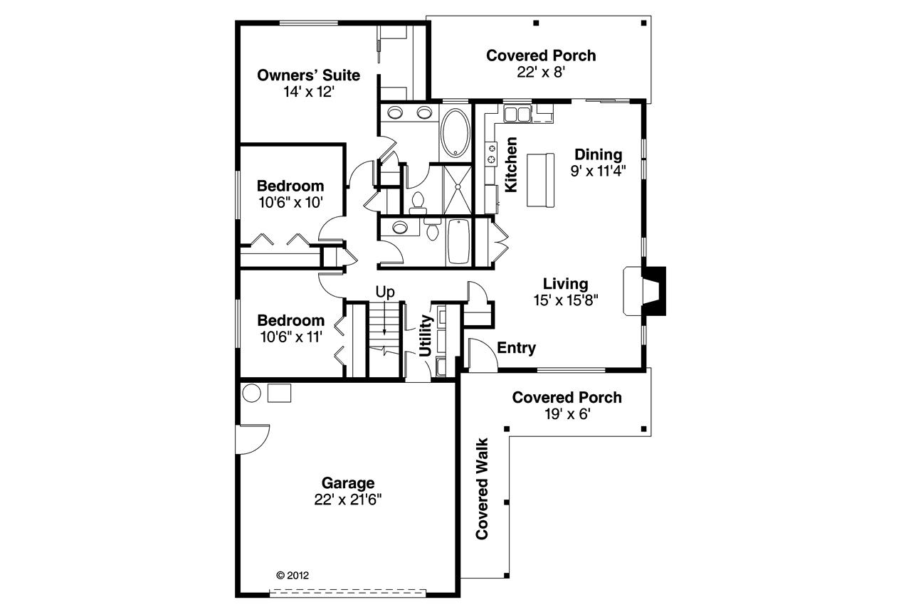 Ranch Floor Plan 3 Bedrms 2 Baths 1369 Sq Ft 108 1750