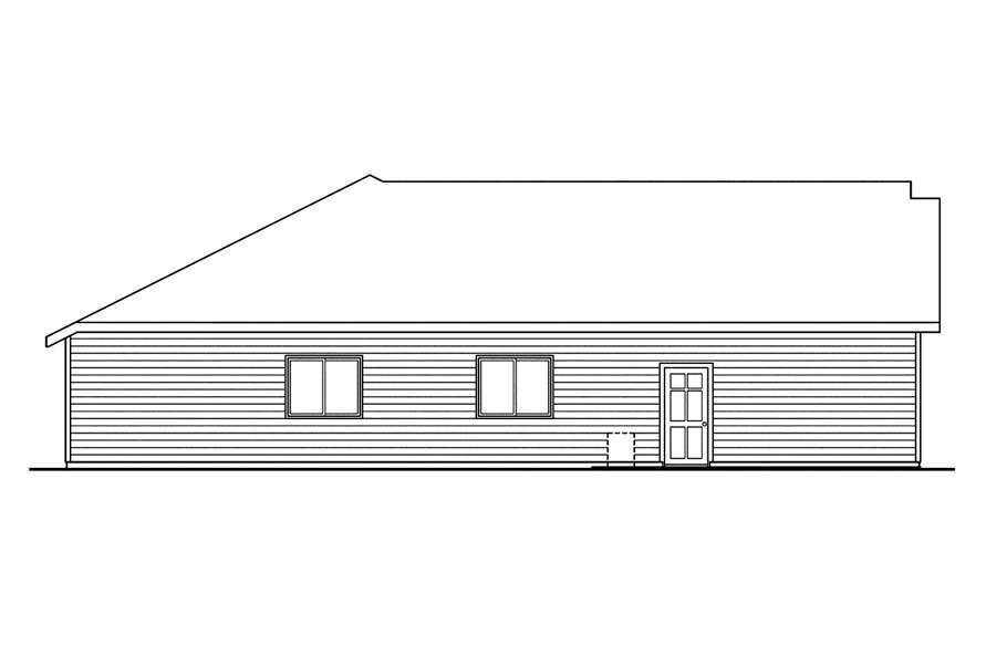 108-1750: Home Plan Left Elevation