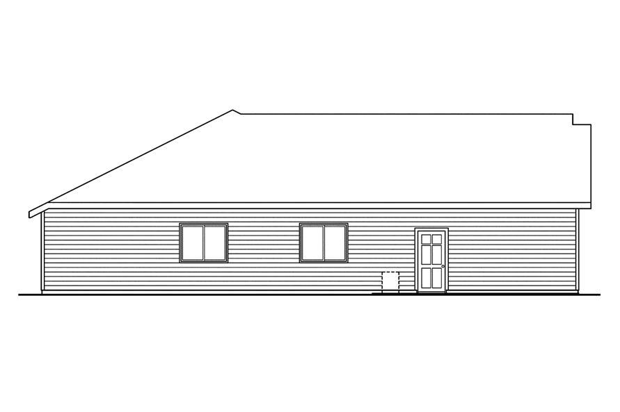 108-1750: Home Plan Left Elevation
