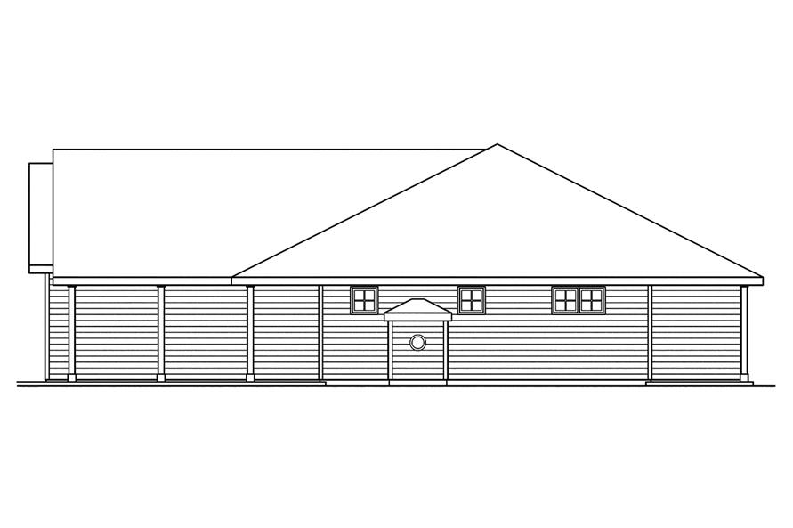 108-1750: Home Plan Right Elevation