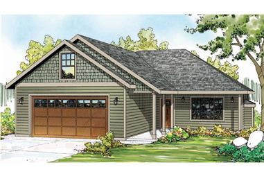 3-Bedroom, 1369 Sq Ft Ranch Home Plan - 108-1750 - Main Exterior