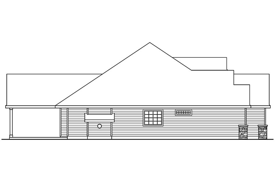 Home Plan Left Elevation of this 4-Bedroom,2412 Sq Ft Plan -108-1751