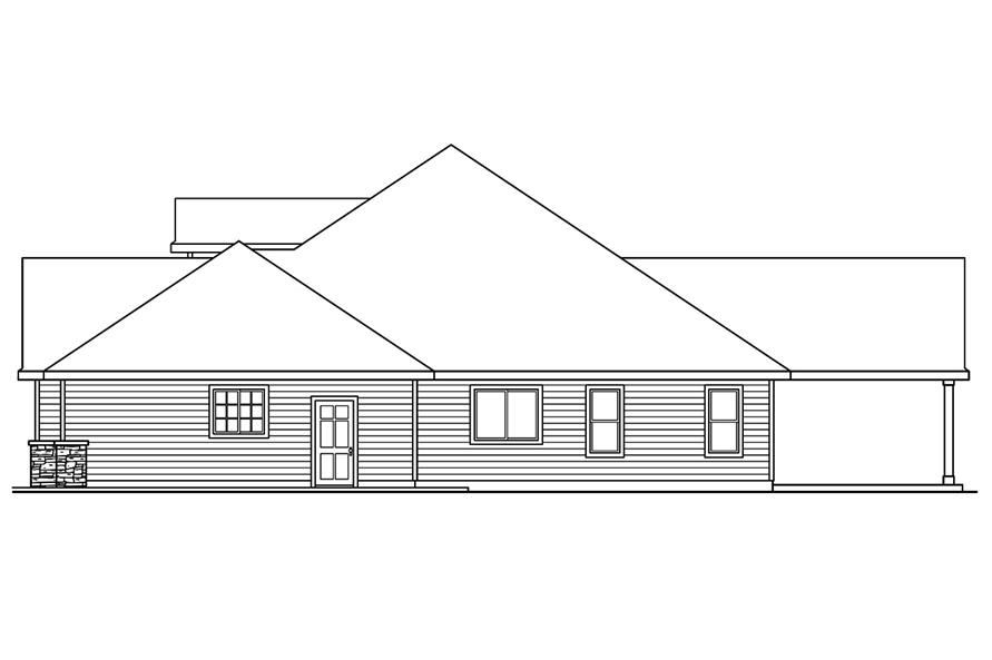 Home Plan Right Elevation of this 4-Bedroom,2412 Sq Ft Plan -108-1751