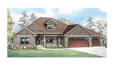 Front elevation of Ranch home (ThePlanCollection: House Plan #108-1751)
