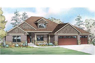 4-Bedroom, 2412 Sq Ft Ranch Home Plan - 108-1751 - Main Exterior