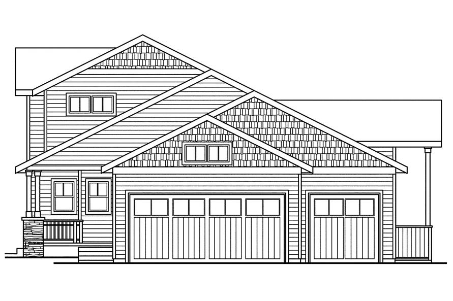 108-1752: Home Plan Right Elevation