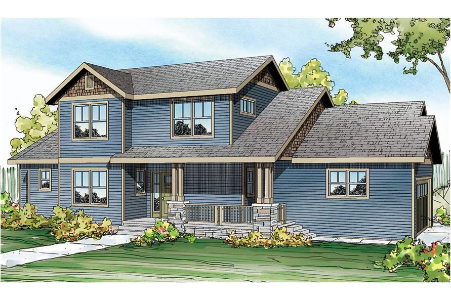 Front elevation of Country home (ThePlanCollection: House Plan #108-1752)