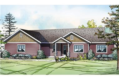 3-Bedroom, 1639 Sq Ft Country Home Plan - 108-1753 - Main Exterior