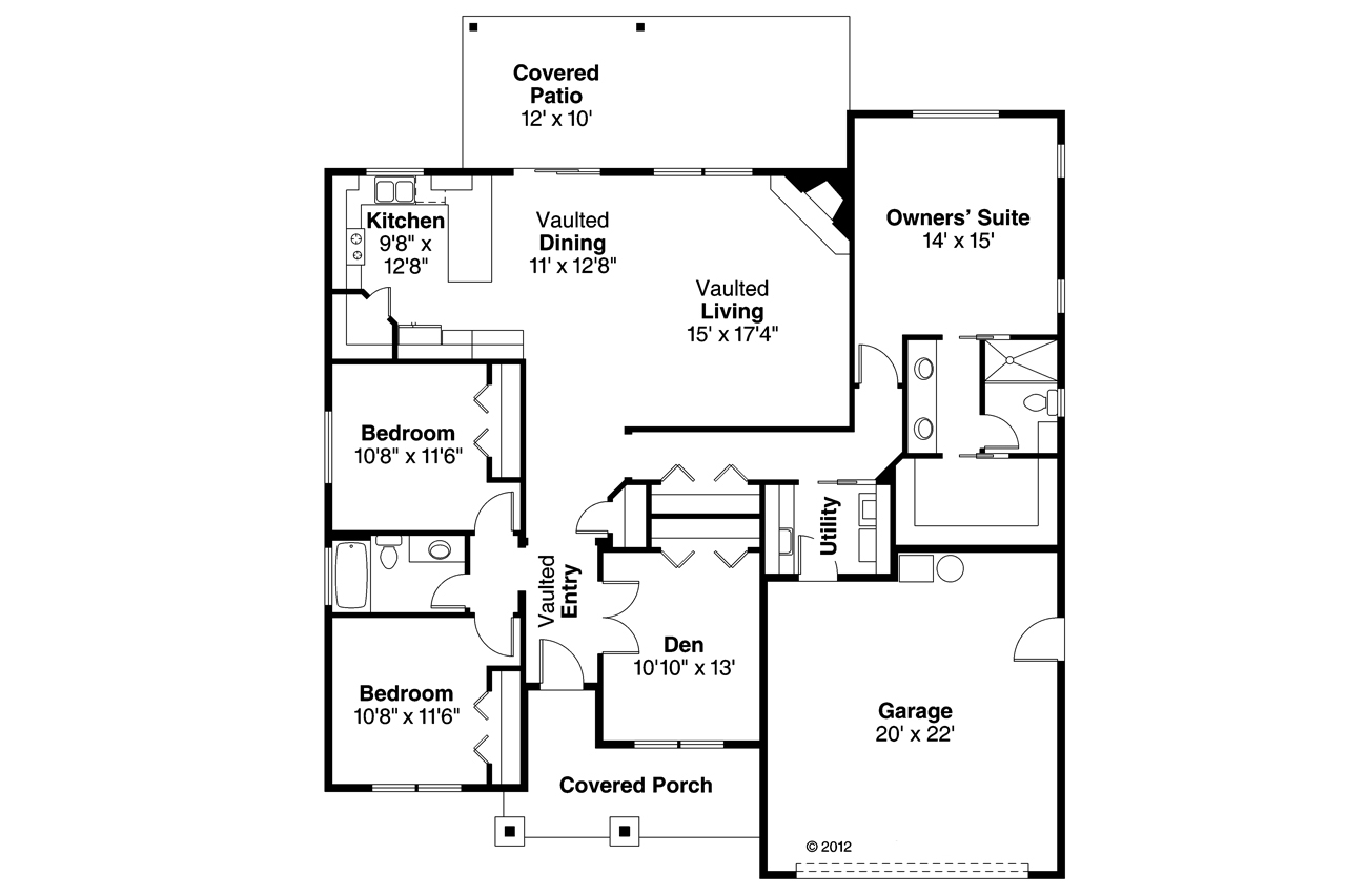 A Frame Cabin Plans 2 Bedroom A Frame Cabin Plans Free Do: Ranch House Plan #108-1754: 3 Bedrm, 1864 Sq Ft Home