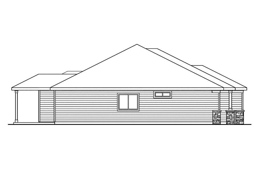 108-1754: Home Plan Left Elevation