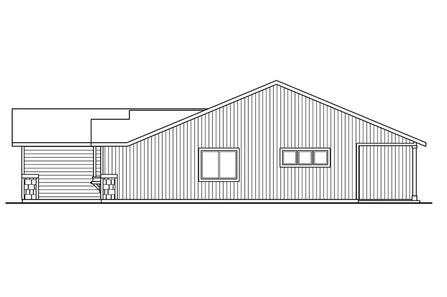 108-1755: Home Plan Right Elevation