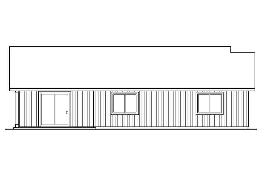 108-1755: Home Plan Rear Elevation