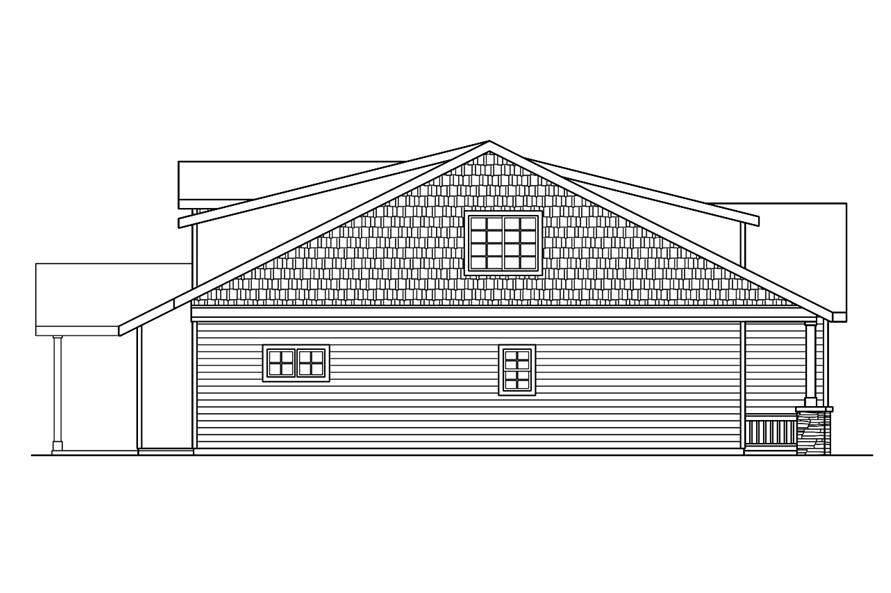 Home Plan Left Elevation of this 3-Bedroom,2051 Sq Ft Plan -108-1756