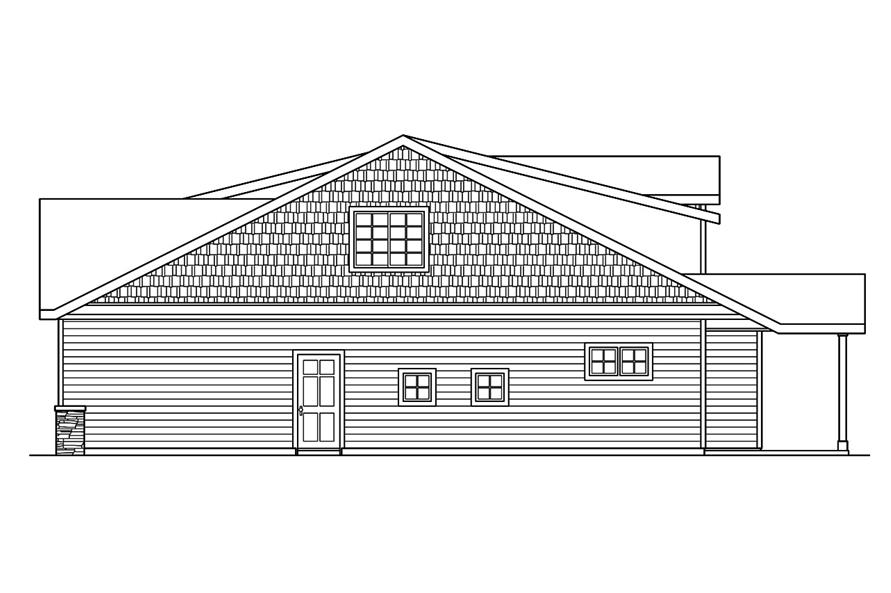 Home Plan Right Elevation of this 3-Bedroom,2051 Sq Ft Plan -108-1756